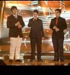 Tres tenores cantando