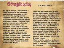 Lucas 20 27-40