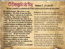 Mateo 7 21,24-27