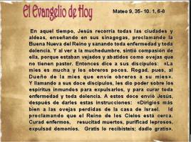 Mateo 9, 35  10, 1, 6-8