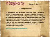 Mateo 7, 7-12