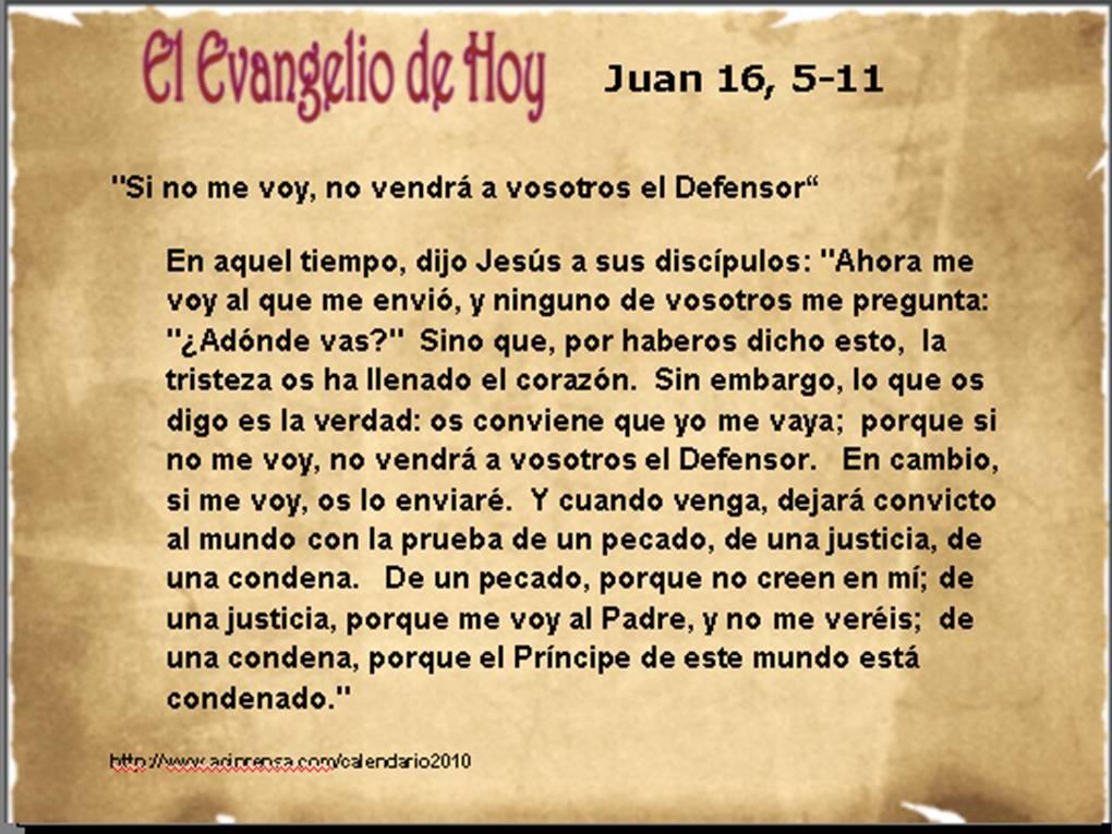 Resultado de imagen para Juan 16,5-11