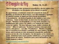 Mateo 14, 13-21 Evangelio del día