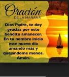 Oración al empezar el día