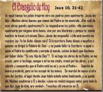 Juan 10, 31-42