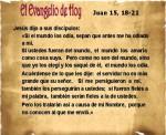 Juan 15, 18-21