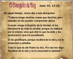 Juan 16, 12-15