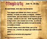 Juan 16, 20-23a