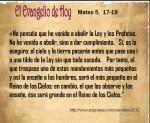 Mateo 5, 17-19