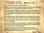 Mateo 25, 14-30